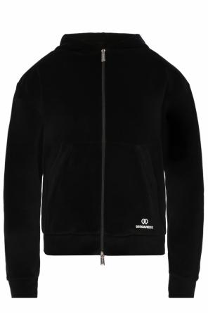 Hooded velour sweatshirt od Dsquared2